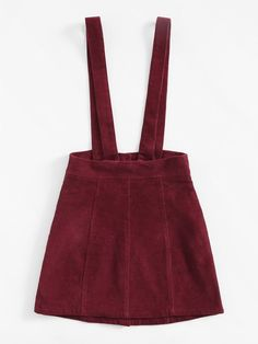 Button Up Cord Pinafore Skirt -SheIn(Sheinside) Cute Lazy Outfits, Teenage Girl Outfits, Summer Outfits, Pinafore Skirts, Corduroy Overall Dress, Winter Fits, Fashion Outfits, Girl Fashion, Boutique