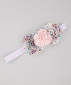 Another great find on #zulily! Pink & Blue Layered Shabby Flower Headband by Lil Miss Sweet Pea #zulilyfinds