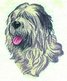Balboa Threadworks Embroidery Design: Old English Sheepdog 3.60 inches H x 2.90 inches W
