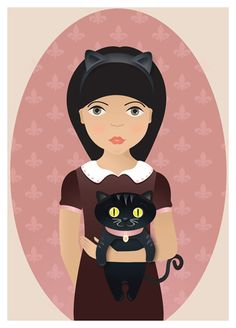 Artwork by Celeste Palacios. #cats #art #cute