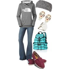 A fashion look from January 2013 featuring Standards & Practices jeans, The North Face and TOMS flats. Browse and shop related looks.