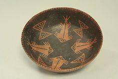 Orangeware Bowl with Fish Motif, Paracas culture, Peru, Ica Valley, 2nd- century BCE. Metropolitan Museum of Art.