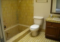 The Roman Tub design | 1961 sunken Roman tub poor bad bathroom design Phoenix Arizona home ...