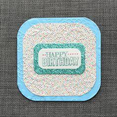 Sparkly Birthday Card Handmade Card Hand by CraftyCarolynsCards