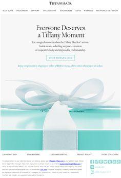 Нежная акционная рассылка от Tiffany & Co