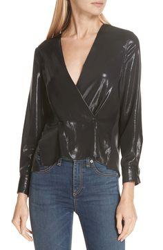 3e539165293 online shopping for rag bone Debbie Metallic Blouse from top store. See new  offer for rag bone Debbie Metallic Blouse