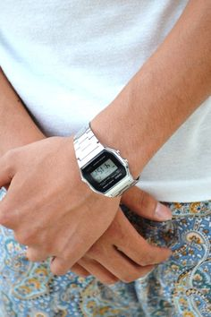 fresh men outfit #silver #casio at my shoppe http://astore.amazon.com/neon0fb-20