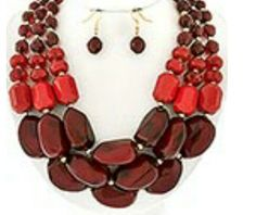 Red/burgundy set