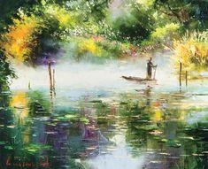 Through the Mist by Gleb Goloubetski, Oil on Canvas, 65cmx80cm