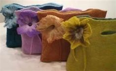 Image detail for -chic so soft hand felted bags using the wet felting and needle felting ...