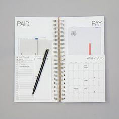 PREORDER. DATED bills calendar by REDSTARink on Etsy