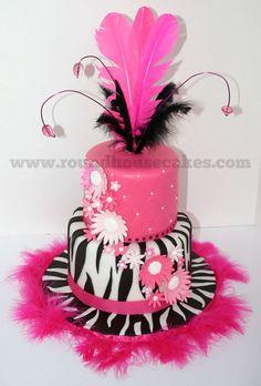 Pink zebra cake! Love Zebra Print