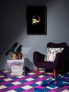 The perfect way to introduce pink and purple into your living space Fenton and Fenton Rug