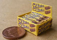 A Display Box Of Chocolate Flakes Dolls House Miniature Accessory Sweet Shop