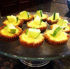 Mini Key Lime Pies! YUM! http://kneadwith.me/sample-page/mini-key-lime-pies/