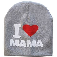 I Love Mama or Papa Beanie