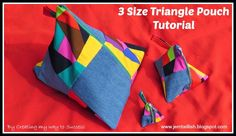 3 Size Triangle Pouches - a tutorial