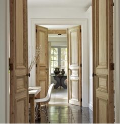 Pop over to these guys french door sliding My French Country Home, French Country House, House, Interior Barn Doors, Wood Doors, Windows And Doors, Interior Architecture, Doors Interior, Wood Doors Interior