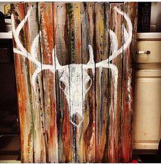 Western, chic, rustic, painting, handmade, custom made, reclaimed wood pallet