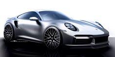 2021 Porsche 911 Turbo S - GT Silver Metallic - HD Pictures, Videos, Specs & Information - Dailyrevs 911 Turbo S, Porsche 911 Turbo, Automotive Engineering, Automotive Design, Auto Design, Car Design Sketch, Car Sketch, New Porsche, Sport Seats