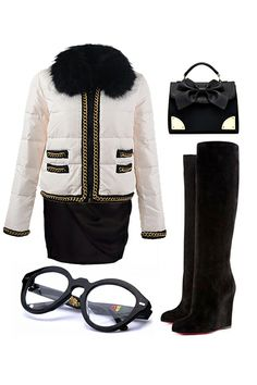 Fashion Fair Lady Outfit, especially CL boots and Jacket