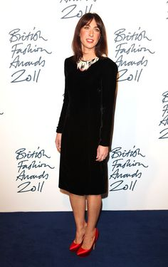 Samantha Cameron in Holly Fulton - love the shoes!