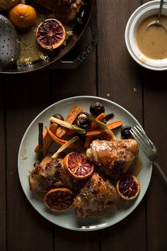Roasted Chicken with Blood Oranges by goboroot #Chicken #Blood_Oranges