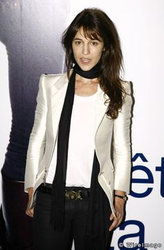 Poised Perfection: Style Icon Charlotte Gainsbourg // black & white outfit - so in love with that white tuxedo