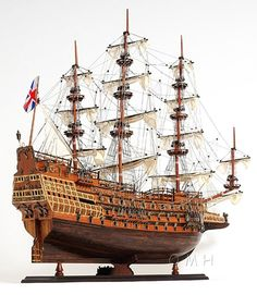 HMS Sovereign of the Seas Tall Ship. Wood, 37""
