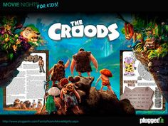 The Croods is now on DVD.  #Download this #free #activity sheet, watch the movie, and have a fun family movie night!