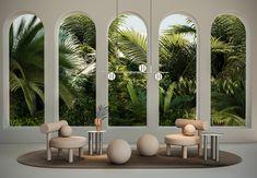 NOOM Celebrates 100 Years of the Bauhaus - Design Milk Architecture Design, Modern Architecture House, Futuristic Architecture, Modern Houses, Design Bauhaus, Low Chair, Modelos 3d, 3d Studio, Store Design