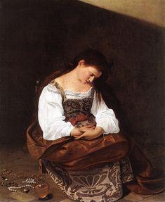Caravaggio (Michelangelo Merisi da Caravaggio) Penitent Magdalene -