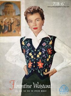 Patons 718 This is extraordinary - such a beautiful waistcoat and so elaborate…