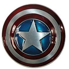 Captain America Belt Buckle - Belt Buckles Of Men Captain American, Captain America Shield, Volkswagen Logo, Metallic Paint, Marvel Avengers, Belt Buckles, Red And Blue, Dark Red, Silver