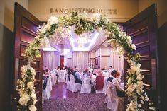 A simple green and white floral arch provided by the Brehon Hotel. Wedding Suits, Our Wedding, Wedding Venues, Wedding Dresses, Floral Arch, Civil Ceremony, Industrial Wedding, Wedding Wishes, Floral Wedding