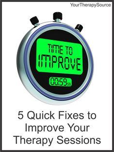 5 quick fixes for OT/PT