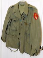 VTG WWII USMC 2nd Marine Division Patch M1943 M43 Combat Field Jacket