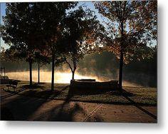 The Mist Rises Metal Print By Lyle Hatch