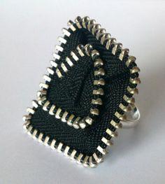 anillos cuadrados de cremallera  cremalleras cosido a mano y silicona