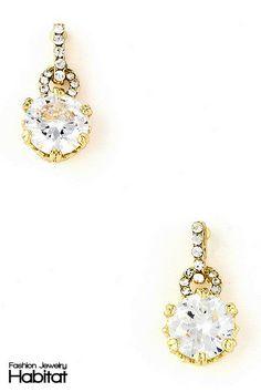Crystal Iris Dangle Earrings - $16.00 at FashionJewelryHabitat.com - #FashionJewelryHabitat #FashionHabitat