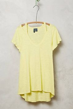 Cut-Out Slub Tee