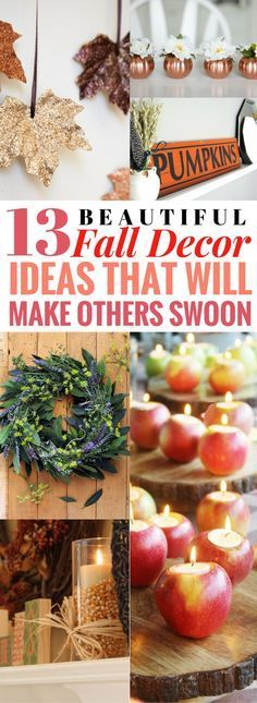 Finally, fall home decor projects that look so AMAZING and super cheap to make! Fall Crafts, Decor Crafts, Holiday Crafts, Pumpkin Crafts, Diy Crafts, Fall Home Decor, Autumn Home, Diy Autumn, Thanksgiving Decorations