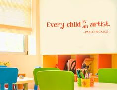 """""""Every Child is an Artist"""" Wall Decal"""