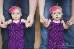 Baby photography, twin girl photos, 6 month photos