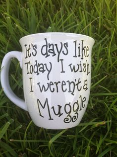 Coffee Mug Harry Potter Inspired Mug Muggle by JustABrushAndPaint, $8.00