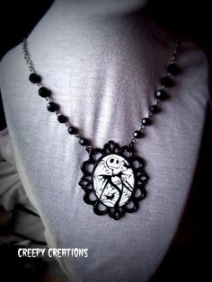 Jack the Pumpkin King necklace Gothic Rosary  by Flamethrowerluv13, $21.99