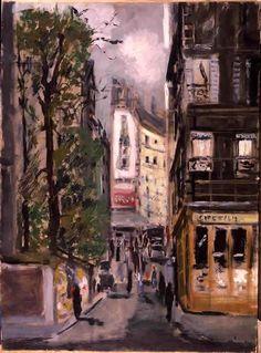 lustforthemoonlight:  De Pisis, Filippo (1896-1956) - 1930 Rue de Clichy (Galleria d'Arte Moderna e Contemporanea, Torino, Italy) (by RasMarley)