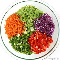 Asian Chopped Salad with Sesame Vinaigrette