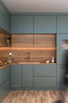 New Kitchen Interior, Modern Kitchen Interiors, Kitchen Room Design, Home Room Design, Kitchen Cabinet Design, Modern Kitchen Design, Home Decor Kitchen, Home Interior Design, Home Kitchens