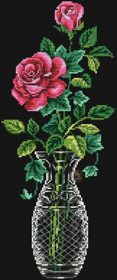 This Pin was discovered by Алл Cross Stitch Tree, Cross Stitch Flowers, Cross Stitch Charts, Cross Stitch Designs, Cross Stitch Patterns, Rose Embroidery, Cross Stitch Embroidery, Embroidery Patterns, Crochet Cross